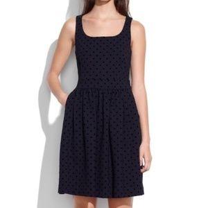 """Madewell Black Polka Dot """"velvetdot"""" Mini Dress"""